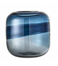 Blue Tonal Glass Vase