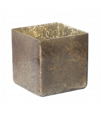 Glass Bronze Tea Light Holder -  Large