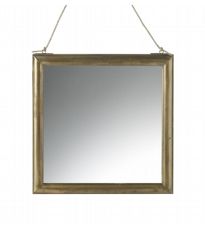 Gold Square Mirror