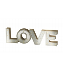 Mirrored Love Sign