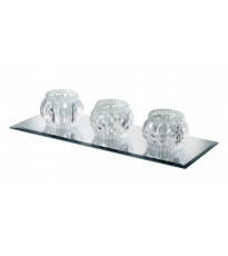 3 Glass Tea Light Holder
