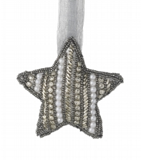 Hanging Beaded Silver Star
