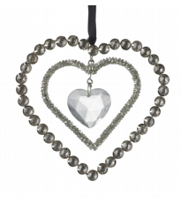 3 Heart Diamante Decoration