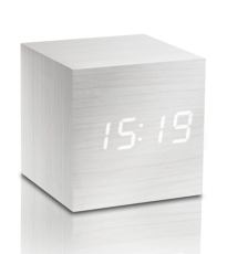 Cube Click Clock White