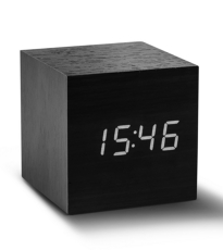 Cube Click Clock Black