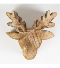 Wooden Stag  Coaster Set 6