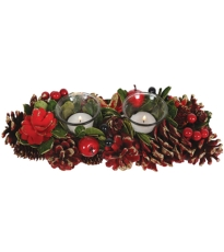 Red Berry Table 2 Candle Holder - Medium