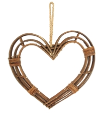Wooden Heart Wreath -  Large