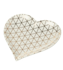 Heart Geometric Design Plate -  Large