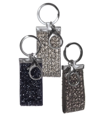 Glamour Sparkle Tag Key Ring - 3 Assorted