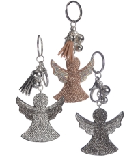 Glamour Sparkle Angel Key Ring