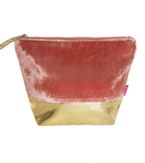 Banded Velvet Large Pouch 3 Asstorted