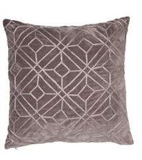 Geometric Embroided Grey Sliver Cushion