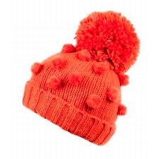 Bobble Large Pom Hat Orange