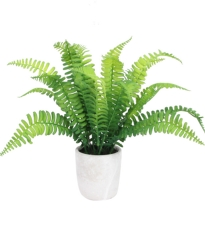 Potted Faux Fern Plant