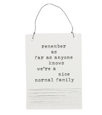 White Ceramic Family Plaque