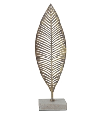 Metal Leaf Sculpture - Small
