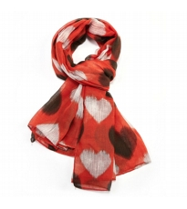 Smudged Heart Scarf - Rust