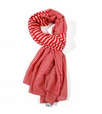 Variegated Stripe Scarf - Red