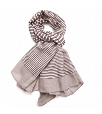 Variegated Stripe Scarf - Grey