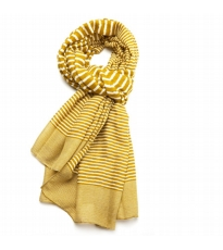 Variegated Stripe Scarf Chartreuse