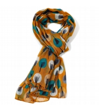 Drawn Trees Scarf - Mustard