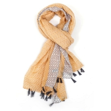 Arrow Tassel Scarf - Mustard