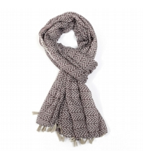 Arrow Tassel Scarf - Grey