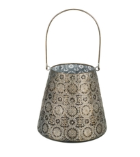 Black Gold Metal Lantern