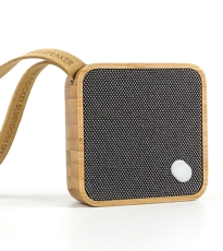 Square Pocket Speaker Bamboo