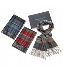 Mens Check Scarf 3 Assorted