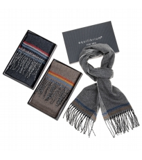 Mens 3 Stripe Scarf 3 Assorted