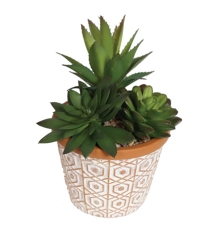 Tile Pattern Succulent Pot