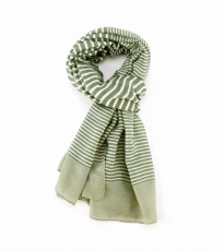 Variegated Stripe Scarf Green