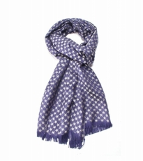 Mini Star Woven Scarf Blue