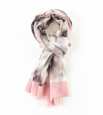 Watercolour Bloom Scarf Pink