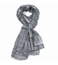 Line Pattern Scarf Grey