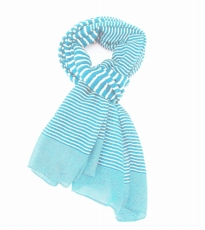 Variegated Stripe Scarf Turquoise