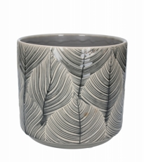 Grey Leal Ceramic Pot