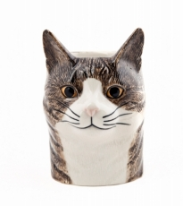 Tabby Cat Pencil Pot