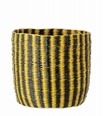 Large Yellow Black Basket