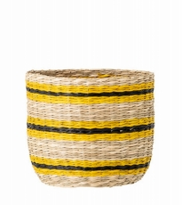 Medium Yellow Black Basket