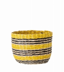 Small Yellow Black Basket