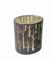 Black Trees Votive Small