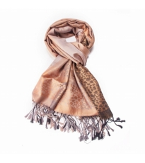 Abstract Animal Scarf Beige