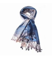 Abstract Animal Scarf Blue