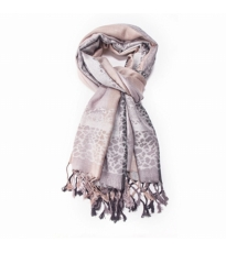 Abstract Animal Scarf Grey