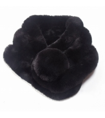 Furry Tippet Black