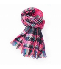 Happy Check Scarf Pink