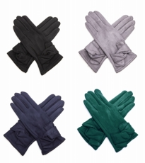 Knot Detail Gloves 4 Assorted